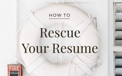 Greenville Women Returning to Work: Rescue Your Resume Series
